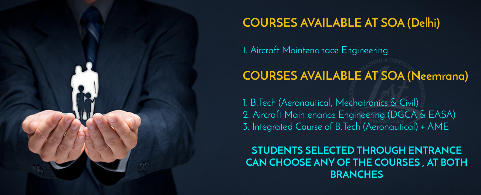 AIRCRAFT MAINTENANCE ENGINEERING IS ALSO AVAILABLE AT OUR DELHI CAMPUS