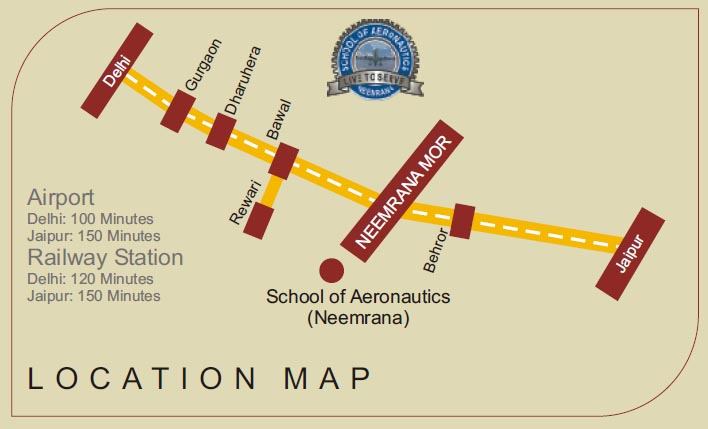 LOCATION MAP FOR SCHOOL OF AERONAUTICS